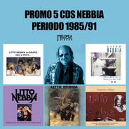 Pack 5 Cds Nebbia Período 1985/91