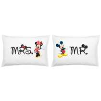 2 Fronhas Personalizadas Mickey Minnie Casal