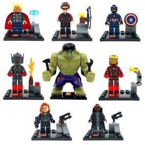 Kit Super Heroes Avengers Gavião, Thor, Hulk, Homem De Ferro