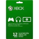Xbox Live 12 Meses 25 Unidades Disponibles