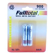 Blister X2 Pilas Baterias Aaa Recargable 900 Mah Fulltotal