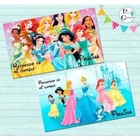 10 Rompecabezas Imantado Souvenir Princesas Disney 9x15