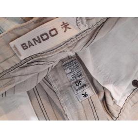 Pantalon De Vestir Chupin A Rayas Bando Talle 40 - Zro8