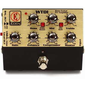 Pedal Baixo David Eden Wtdi Pre Amp Direct Box + Nf