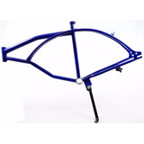 Quadro Chassi Azul - Bicicleta Motorizada Kit Motor 2 Tempos