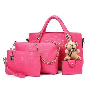 Bolsa Feminina Kit Conjunto 4 Peças Varias Cores Luxo Lindas