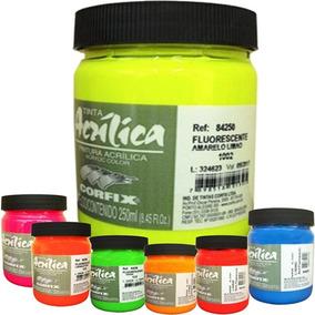Tinta Fluorescente Neon Acrílica Corfix 250ml