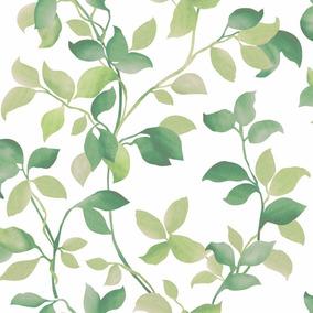 Papel Muresco Allegra 73011 Flores Verde Blanco