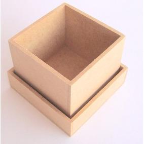 Kit 65 Caixa Caixinha Mdf Cru 12x12x5cm Prontas Para Decorar