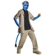 Disfraz Traje De Lujo De Avatar Niño Y La Máscara, Traje De