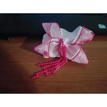 Moños Para Niña Rosa Liston Estampado Combinado