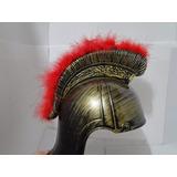 Gladiador Romano Medieval Elmo Capacete Penacho Vermelho Red