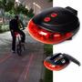 Oferta Pack X 10 Luces Bicicleta Laser Economicas Led Pilas