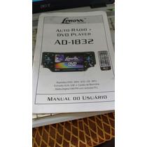 Lenoxx Manual Ad-1832 Dvd Player Manual Do Usuário