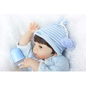 Bebê Reborn Davi Todo Silicone Com Vinil Em Promoção!
