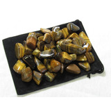 Zentron Crystal Collection: 1 Pound Tumbled Golden Tiger Eye