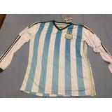 Camisa Argentina 2014 Longa Tamanho Especial Xxxl - Ggg Egg