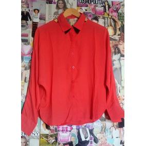 Camisa De Gasa Roja Mangas Murciélago Tienda Sophia