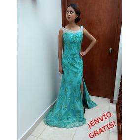 Vestido De Noche Del Diseñador Christian Uriel / Talla 5