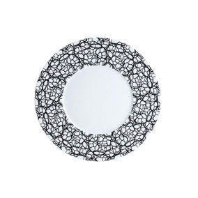 Conjunto 6 Pratos De Jantar 27cm De Porcelana Limoges Zen -
