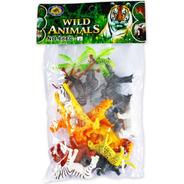Brinquedo Conjunto Animais Da Selva No Saquinho Polibrinq