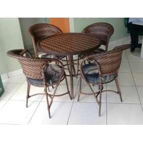 1 Mesa E 4 Cadeiras Arcobalena Fibra Sintética