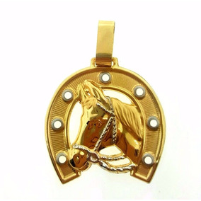 Pingente Cavalo Ferradura Em Ouro 18k/750 Peso 1.65 Gramas