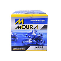 Bateria Moto Original Moura 5ah = Dtz6 Fan Titan Bros 09 E/d