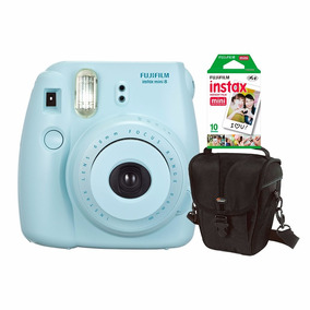 Câmera Inst. Fujifilm Instax Mini 8 Azul, Estojo C/ 10 Fotos