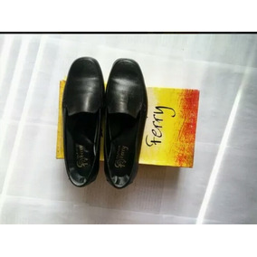 Zapatos Ferry Negro Dama Casual Ejecutivos