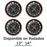 Juego Tazas De Auto Rodado 13 14 Universales Incluye Logo
