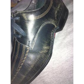 Zapatos Buenos De Cuero Ferracini Color Envejecido.