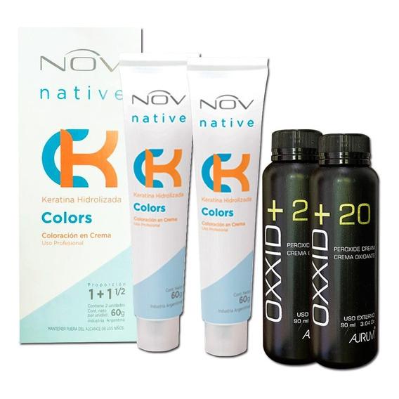 Tintura Nov Native Colors 120 Grs 2 Pomos 60 Grs + Oxidantes