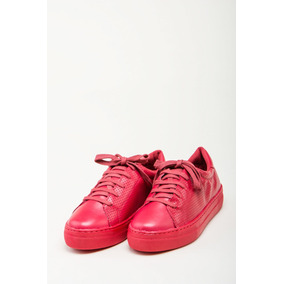 Zapatilla Cuero Rojo Giulia Domna Mujer
