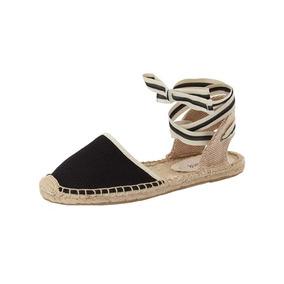 Zapatos Planos Soludos Clásico Tejido Sandalia Para Mujeres