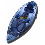 Kayak Dorado Kayaxion. Pesca. Asiento Rigido + Caja + Remo