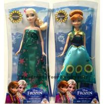 Bonecas Mattel Anna Ou Elsa Frozen Fever Originais Disney
