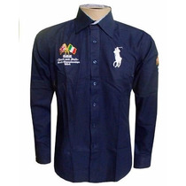 Camisa Social Ralph Lauren Sport England Bordada