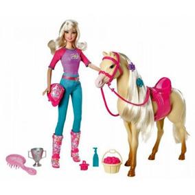 V5721 Mattel - Barbie & Doll Tawny Con El Caballo, Un Cepil