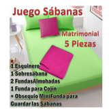 Juego Sabana Matrimonial 5pieza Incluye 1funda Cojín +regalo