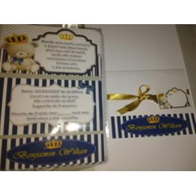 10 Convites Chá De Fraldas, Panela, Aniv Com Envelope E Selo