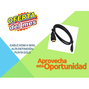 Cables Originales Hdmi A Mini, Punta Gold Weq-002