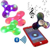 Fidget Spinner Bluetooth Musical Corneta Luce Recargable