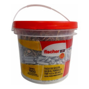 Balde Fischer Tarugo Sx6 + Tornillos De 4.5 X 35mm X 1000 U