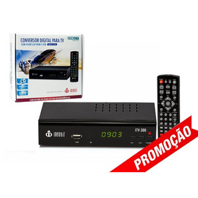 Conversor Tv Digital Hdmi Usb Gravador Filtro 4g Hdtv Itv300
