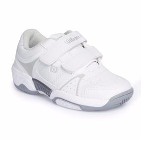 Tenis Wilson Color Blanco Para Niño Del 17 Al 21. 126nr8
