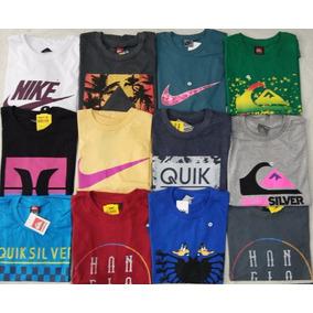 Kit De 10 Camisa Quiksilver Hurley Rip Curl Onbongo Oakley