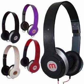 Fone De Ouvido Azul Headphone Mp3 Pc Universal Com Fio
