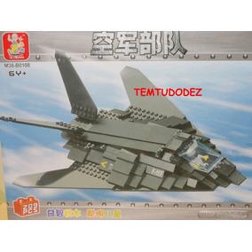 Avião Invisível F-117 Nightwalk - 209 Peças - Similar Lego