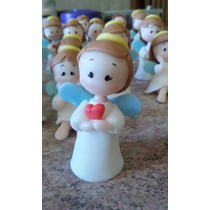 Souvenir Angelitos En Porcelana Fría